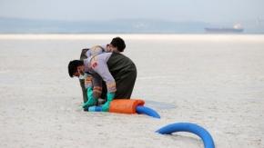 Yalova'da deniz beyaza büründü, İşte Felaketin fotoğrafları