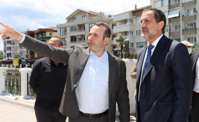 Başkan Tutuk, Kaynaşlı Belediye Başkanını ağırladı