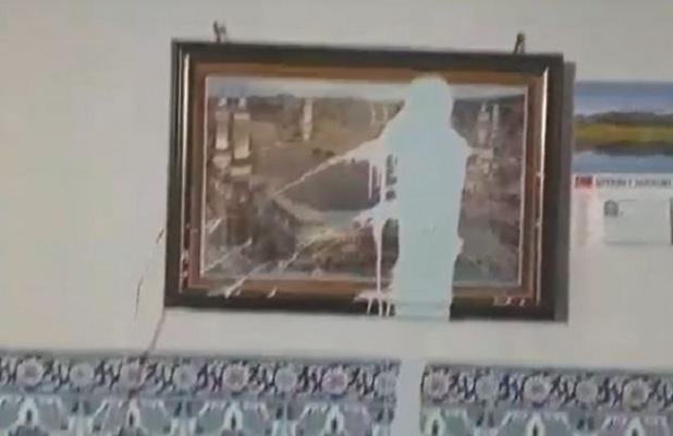 Camiye saygısızca saldırı