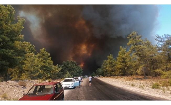Manavgattaki yangına 10 ilden gelen teçhizatla müdahale ediliyor