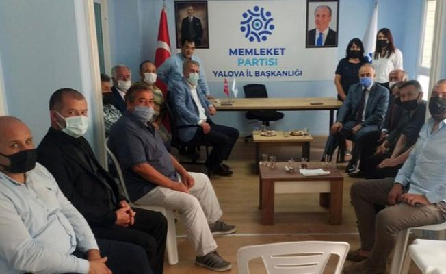 Yalova Valisi'nden Memleket Partisi'ne ziyaret