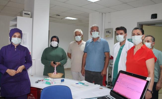 Yalova'da sağlık çalışanlarına bayram ziyareti