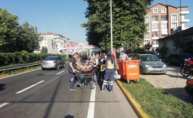 Yalova'ya gelen motosiklet yayaya çarptı