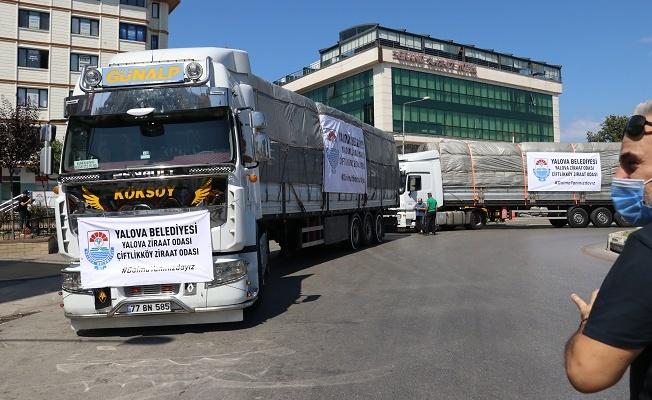 Yalova'dan Antalya'ya anlamlı destek