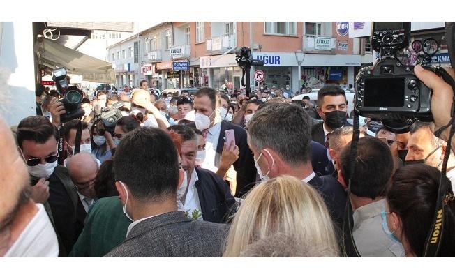 Akşener'in Bayburt ziyaretinde arbede yaşandı