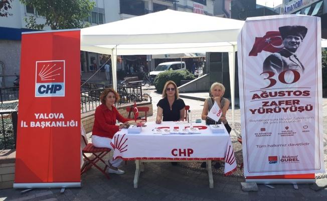 CHP Yalova İl Başkanlığı'ndan 30 Ağustos çağrısı