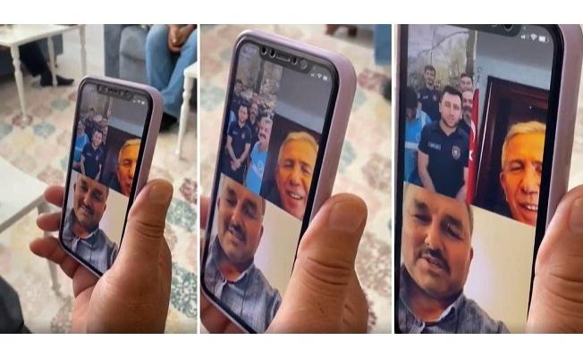 Mansur Yavaş 'online kız isteme' merasimine katıldı