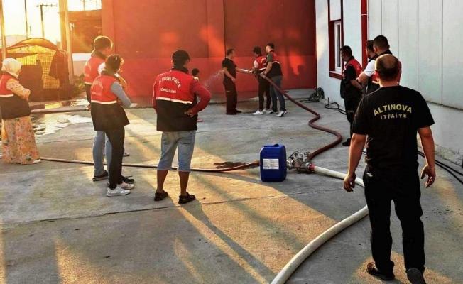 Altınova'da 'gönüllü itfaiyecilik eğitimi' tamamlandı