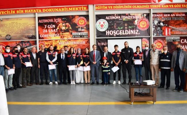 Altınova'da itfaiyenin 307. yıl dönümü kutlandı