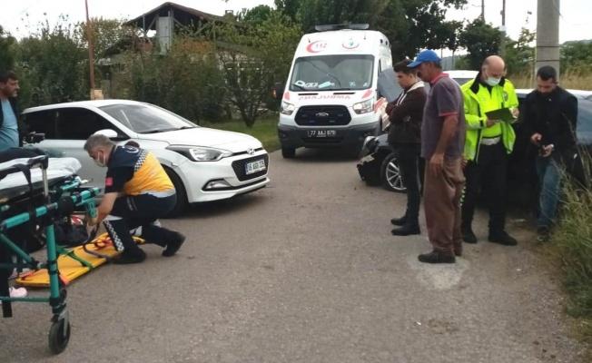 Altınova'da korkutan kaza: 1 yaralı