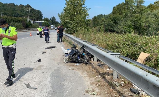 Kurallara uymayan motosiklet sürücüsü hayatını kaybetti