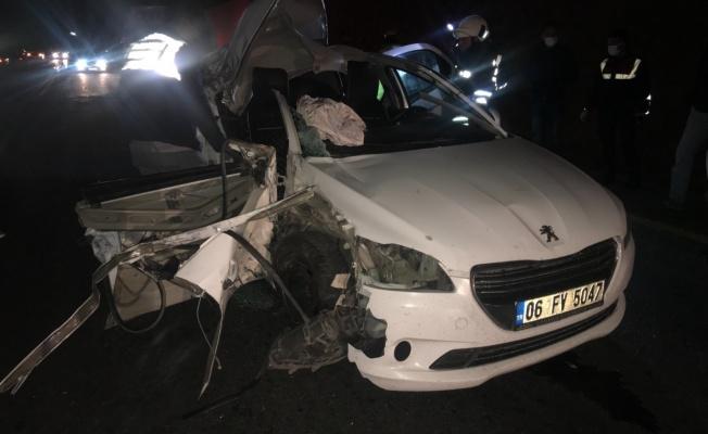 Belediye Başkanı'nın içinde olduğu otomobil kaza yaptı