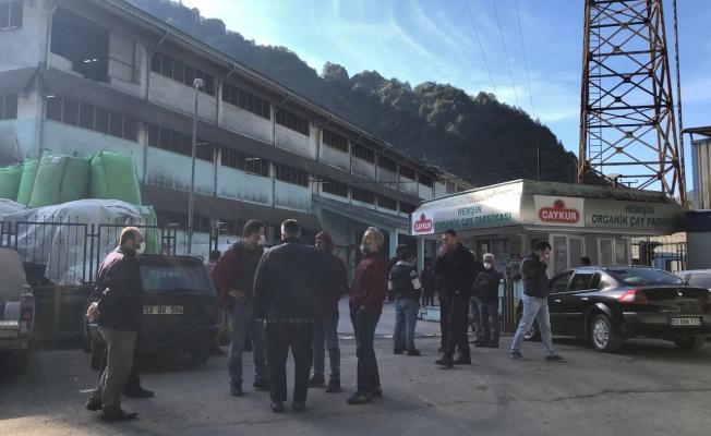 Çay fabrikasında patlama: 1 ölü, 1 yaralı