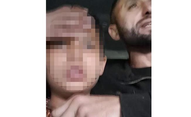 Kendi çocuğunu kaçırdı, boğazına bıçak dayadı